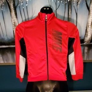 Youth red Nike zip up jacket